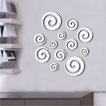 3D Removable Decal Cloud DIY Mirror Wall Sticker Living Room Home Decor