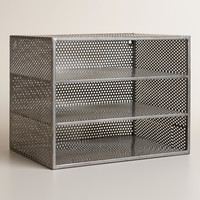 Metal Yvette 3-Shelf Desk Organizer - World Market