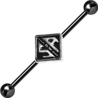 Black Officially Licensed Sons of Anarchy Industrial Barbell 35mm