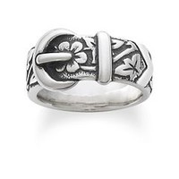 Floral Belt & Buckle Ring | James Avery