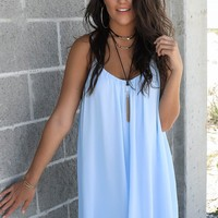 Can't Wait Powder Blue Spaghetti Strap Dress