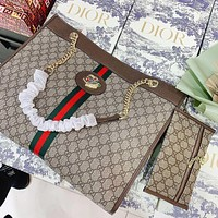 Hipgirls GUCCI New fashion more letter canvas shoulder bag crossbody bag handbag two piece suit