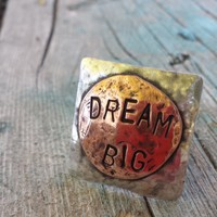 Custom Argentium Sterling Silver and Copper Ring
