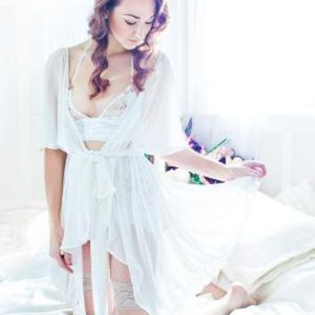 sexy bridal lingerie princess robe by vees on Etsy