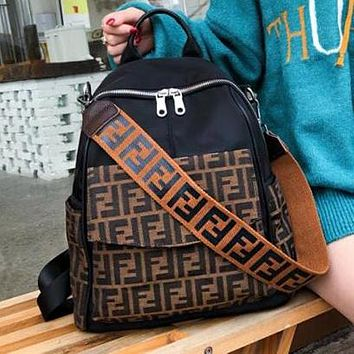 FENDI Fashion Women Men Casual Canvas Travel Bag School Bag Backpack