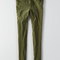 AEO Sateen X4 Jegging, Olive