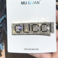 GUCCI Fashion New More Diamond Letter Side Clip Hair Clip Women