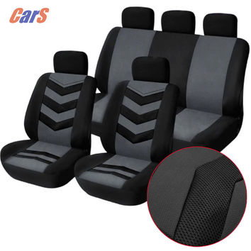 9Pcs Lot Car Cover Set Universal Car Seat Cover Breathable Mesh Sponge Seat-Cover Durable Covers for Car Seats Black Blue