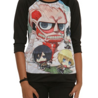 Attack On Titan Chibi Fight Girls Pullover Top 2XL