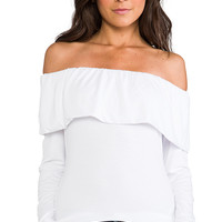 James & Joy Donna Rollover Top in White