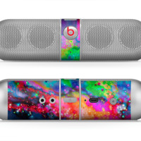 The Neon Splatter Universe Skin for the Beats by Dre Pill Bluetooth Speaker
