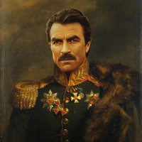 Tom Selleck - replaceface Art Print by Replaceface