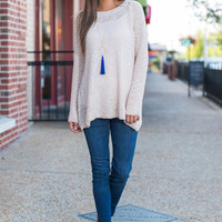 Fall Frequencies Sweater, Cream