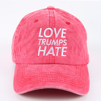 The Love Dad Hat in Red Mineral
