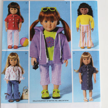 American Girl Doll clothes pattern New Butterick five adorable outfits  18 inch doll size