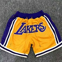 Just Don Jerry FOG LeBron Lakers Short