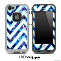 Large Chevron and Neon Strobe Skin for the iPhone 5 or 4/4s LifeProof Case