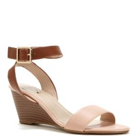 The Italia Stacked Wedge Sandal