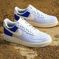 Air Force 1 Nike AF1 Fashion Women Men Blue Tarl Shoes Flat Shoes Blue