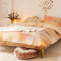 Josse Flannel Dyed Duvet Cover - Urban Outfitters