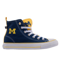 Ladies Shoes Skicks University of Michigan WOMEN'S Colorblock High-Top Sneakers