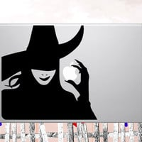 """25% OFF Macbook decals Wicked Witch Apple mac Decal sticker  - choose your own color for macbook 11"""" 13"""" 15"""" 17"""" & laptop"""