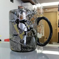 NHL  Pittsburgh Penguins 15oz Ceramic RealTree Camouflage Mug with  Logo