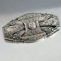 Antique Sterling Silver Art Deco Diamond Brooch Vintage Art Deco Jewelry Wedding Jewelry