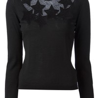 Red Valentino star patch sweater