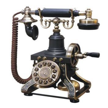 Vintage Phone Reproduction with Crank