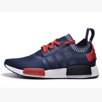 "Women ""Adidas"" NMD Boost Casual Sports Shoes Navy black stripe"
