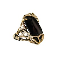 Lace Gold, Black Onyx, & Diamond Half Overlay Ring by Ivanka Trump at Gilt
