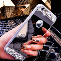 i6/6S/6 Plus Fashion Bling Glitter Mirror Case For iPhone 6 6S For iPhone 6 Plus/6S Plus Slim Soft Diamond Crystal Cover Fashion