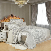 PRINCESS 4-Piece Luxury Bedding Duvet Cover Set - Silver (KING, QUEEN)