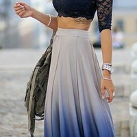 Taylor Ombre Maxi Skirt