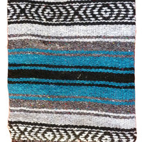 Mexican Falsa Blankets - Blue
