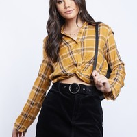 Darcy Plaid Twist Top