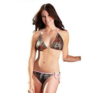Pretty in Pink Mossy Oak Break Up String Bikini Bottom