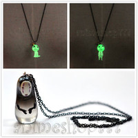 Studio Ghibli Spirited Away Kaonashi Princess Mononoke Tree Spirits Necklace