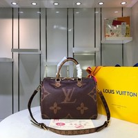 Kuyou Gb29824 Louis Vuitton Lv Speedy 30 Monogram Giant Brown Handbag Top Handles 30x21x17cm
