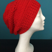 Winter slouchy hat,Red slouchy beanie,Chunky beanie,Red woman beanie,Red slouchy hat,Red chunky hat,Red woman knit slouchy beanie,Red beanie