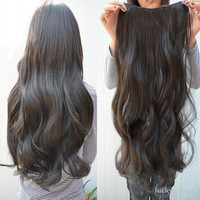 """29"""" Long Curly Wavy 6 Clips In On Hair Extensions"""