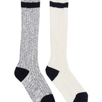 Cozy Striped Boot Sock 2-Pack | Wet Seal