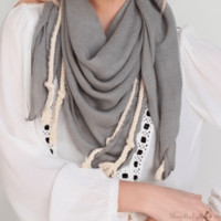 Textured Square Scarf