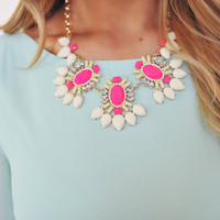 Pink/Ivory Statement Necklace