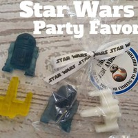 Star Wars Party Favors Tags Included - R2D2 & XWing soaps with bags and tags included for Kids Birthday Party Favors,  Pack of 10
