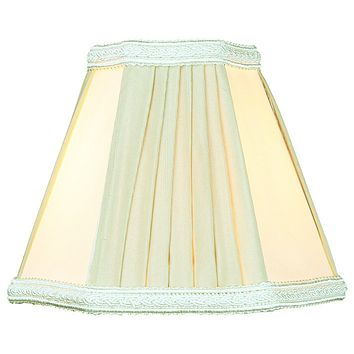 """5""""W x 5""""H Egg Shell Beige Chandelier Clip-On Lampshade"""