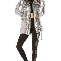 IVY PARK Puffer Bomber in Metallic Charcoal