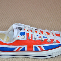 Union Jack on Converse All Stars  Adult size by lucytwoshoes