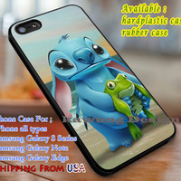 Sunset Lilo and Stitch Frog iPhone 6s 6 6s+ 6plus Cases Samsung Galaxy s5 s6 Edge+ NOTE 5 4 3 #cartoon  #animated  #disney #Lilo&Stitch dl3